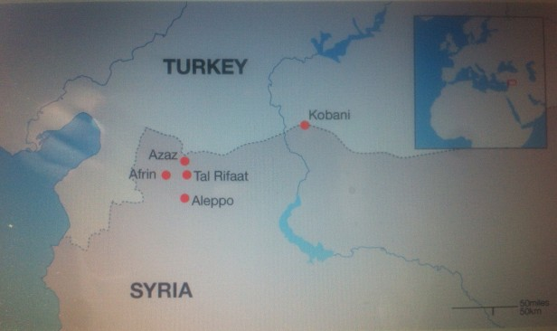 Map of Aleppo, Source: edition.cnn.com