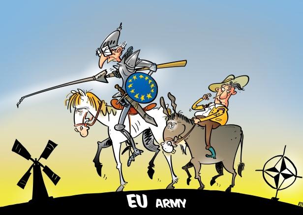 3κωμικογράφημα για τον «ευρωστρατό», πηγή The Paradox of a European Army